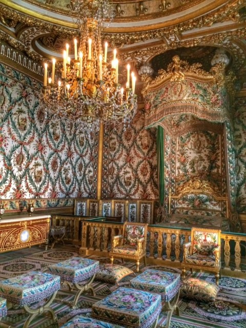 This room and bed was designed for Marie Antoinette.