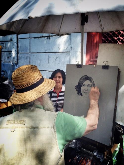A portrait artist at the Place Du Tertre