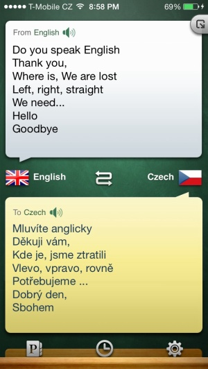 My translator app, quite useful up until now.... It couldn't even give me correct pronounciation for Czech, a cool but super complicated language.